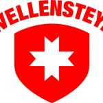 Бренд одежды белый крест на красном щите — Wellensteyn
