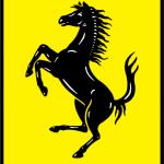 Бренд машины с лошадью