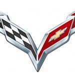 Эмблема машины с двумя флагами