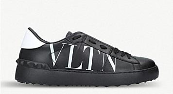 Черные кеды с белой надписью VLTN