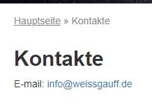 Weissgauff контакты в Германии