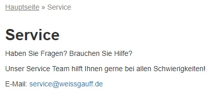 Weissgauff сервис в Германии